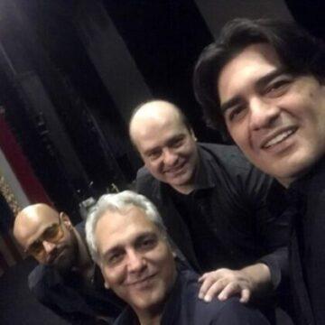 عکس مهران مدیری به همراه گروه آهنگ موسیقی اش