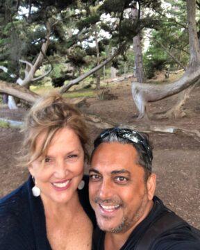 سیاوش شمس و همسرش